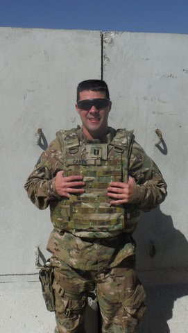 Paul Carey is currently serving in Afghanistan.